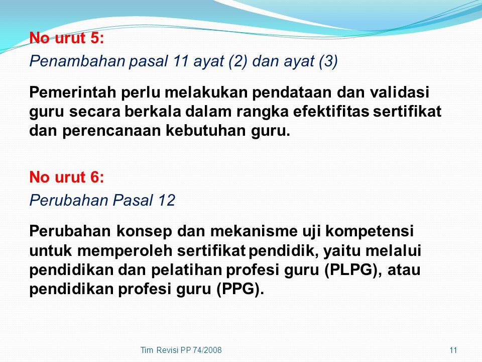 Penambahan pasal 11 ayat (2) dan ayat (3)