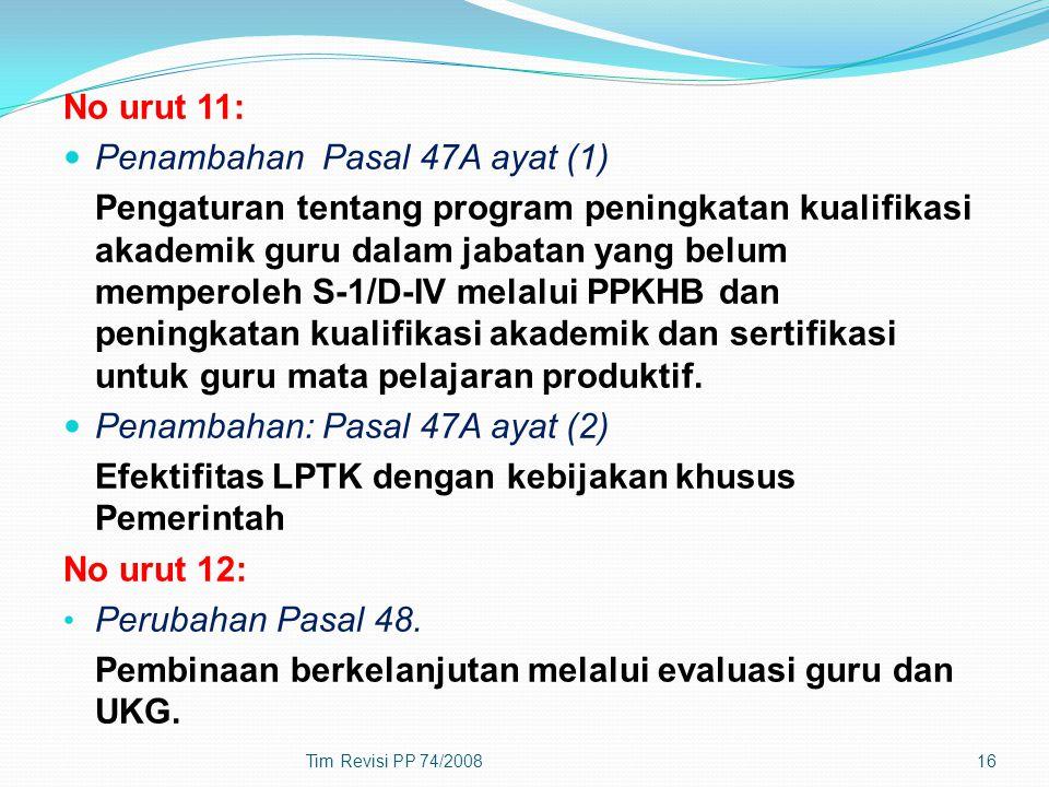 Penambahan Pasal 47A ayat (1)