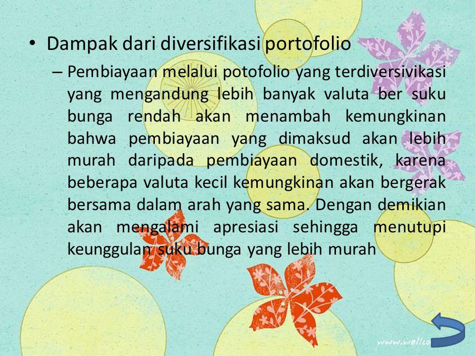 Dampak dari diversifikasi portofolio