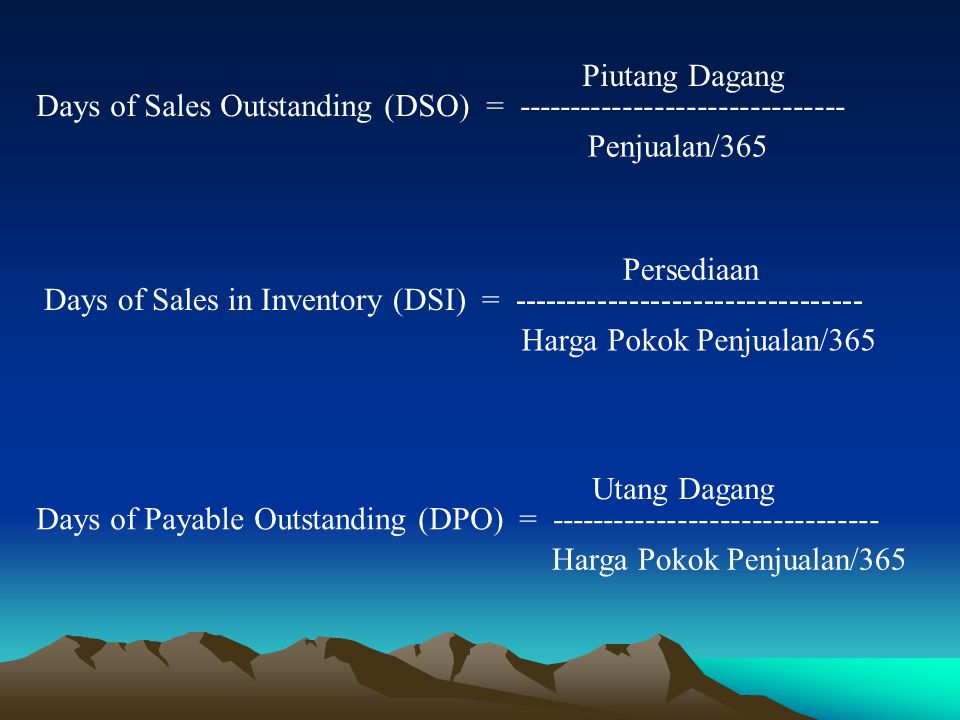Days of Sales Outstanding (DSO) = -------------------------------