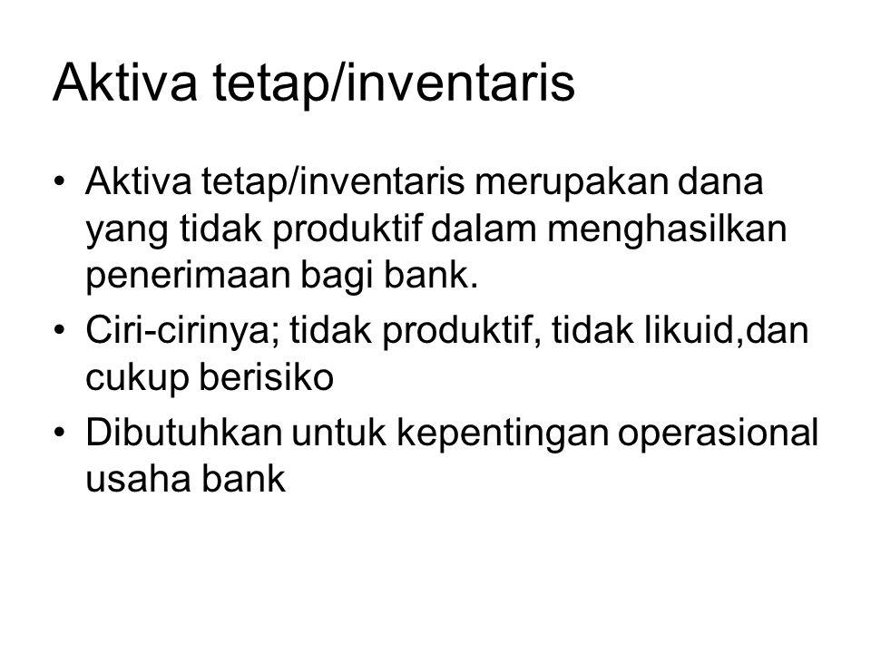 Aktiva tetap/inventaris