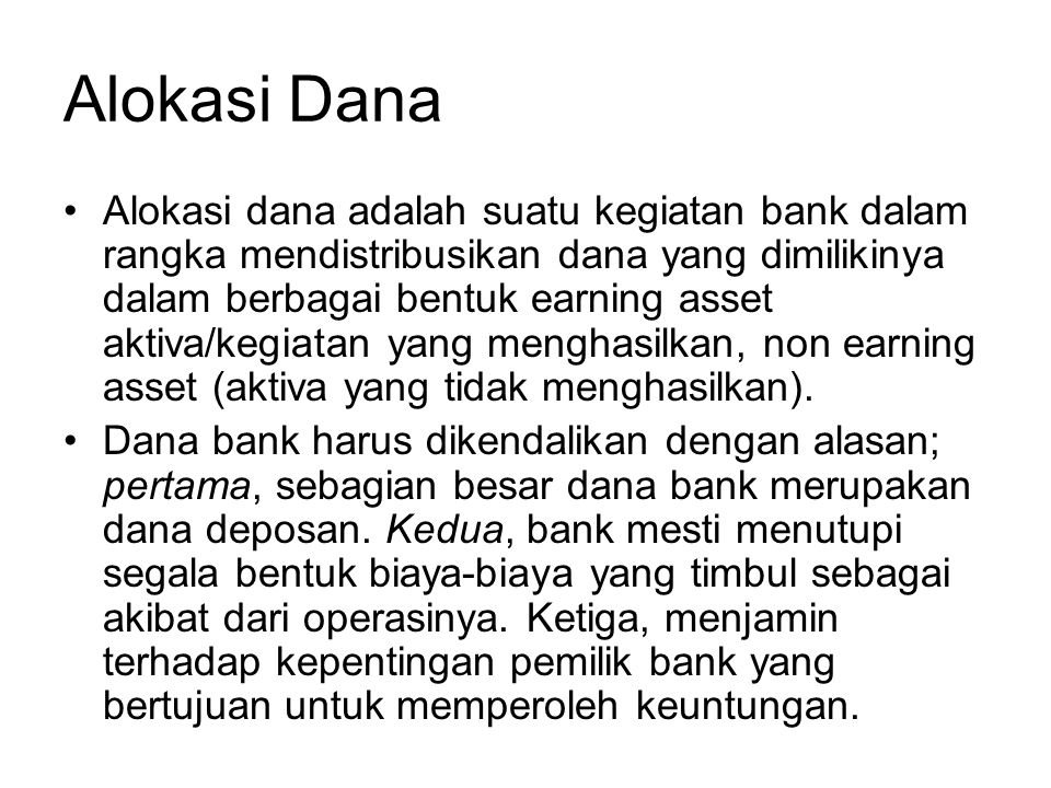Alokasi Dana