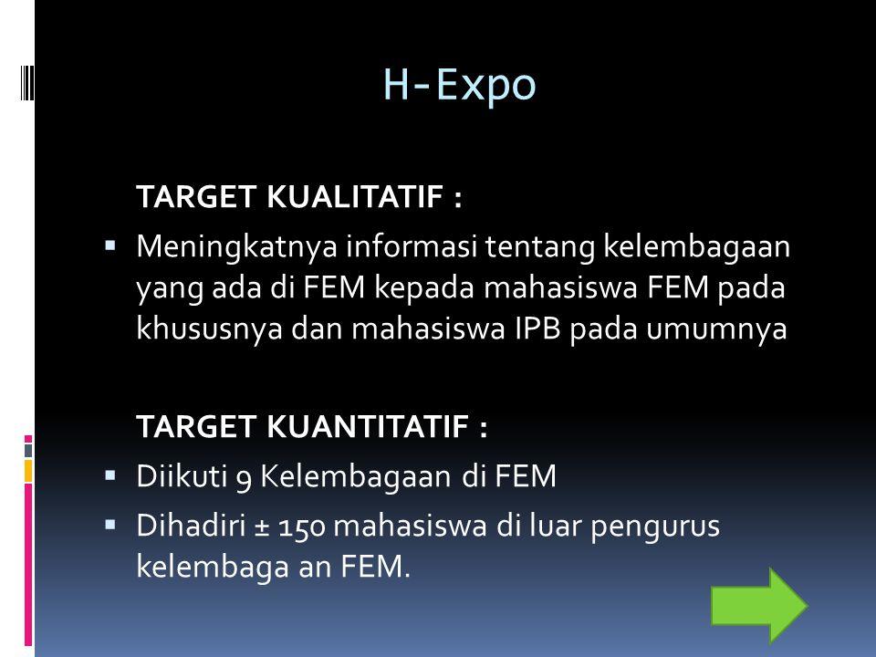 H-Expo TARGET KUALITATIF :