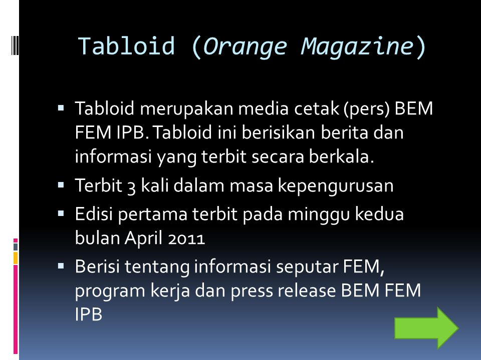Tabloid (Orange Magazine)