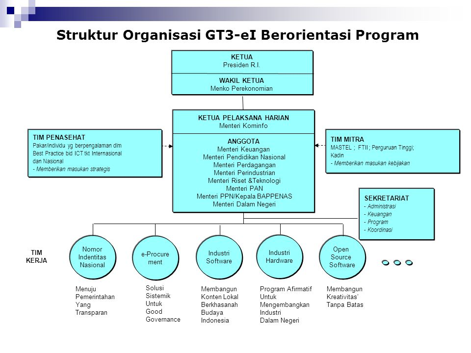 Struktur Organisasi GT3-eI Berorientasi Program