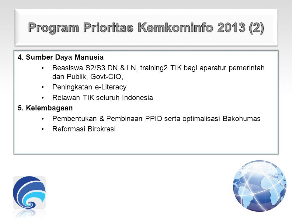 Program Prioritas Kemkominfo 2013 (2)