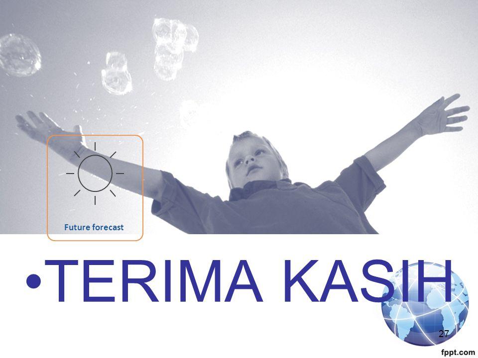 Future forecast TERIMA KASIH