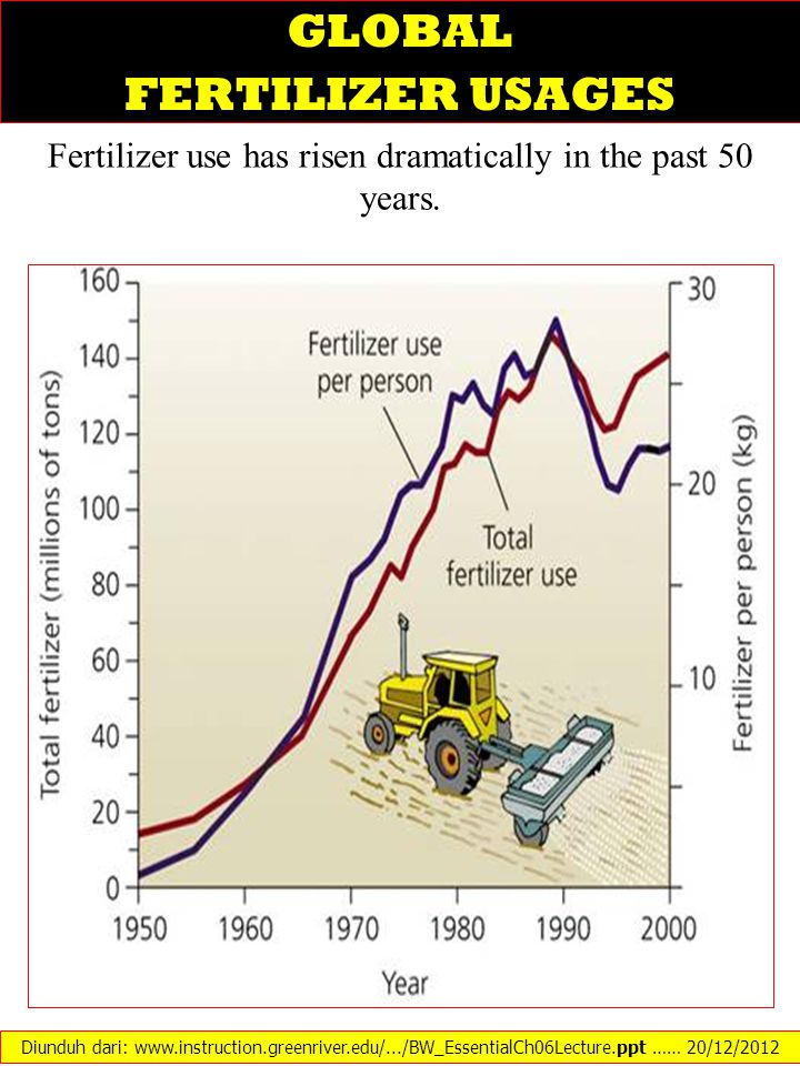 GLOBAL FERTILIZER USAGES