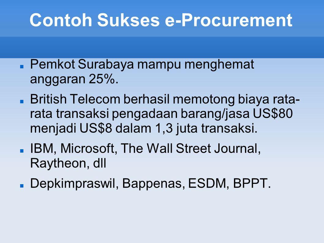 Contoh Sukses e-Procurement