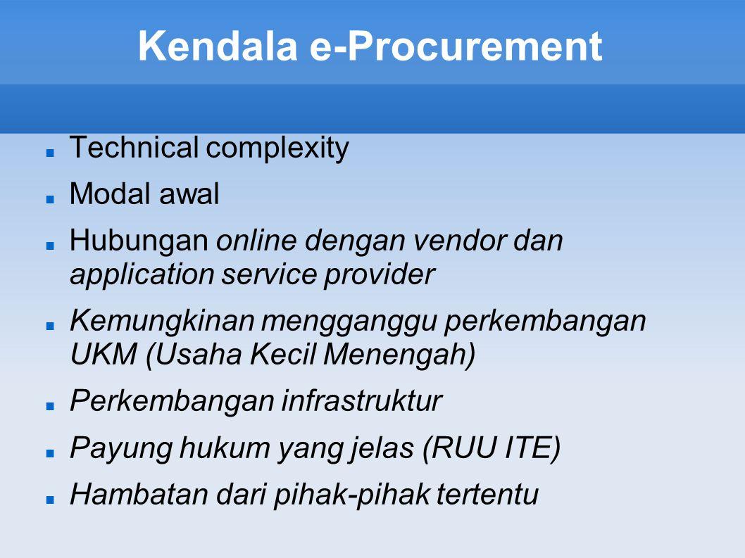 Kendala e-Procurement