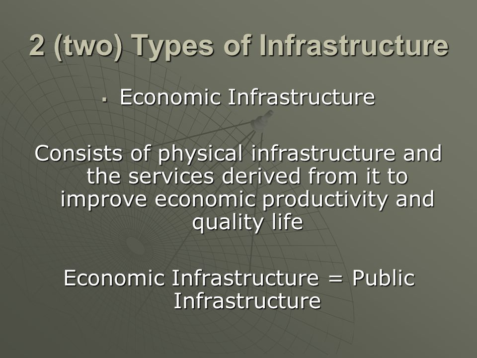 2 (two) Types of Infrastructure
