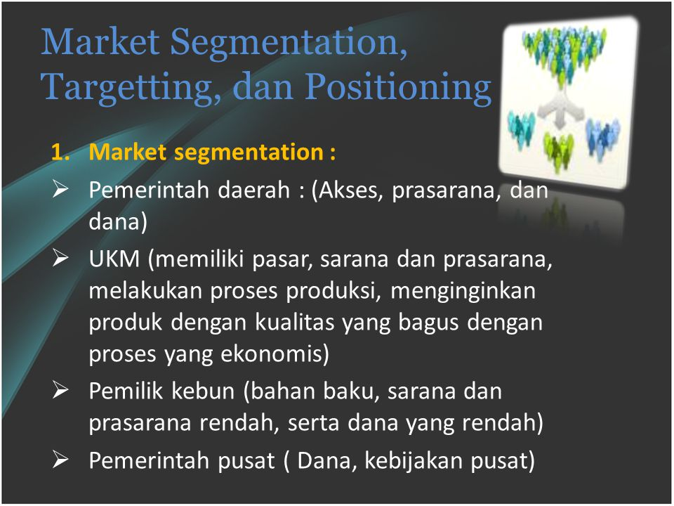 Market Segmentation, Targetting, dan Positioning