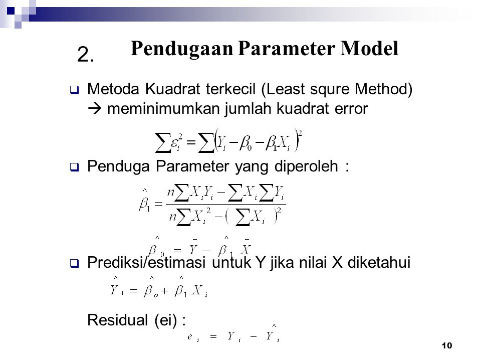 Pendugaan Parameter Model