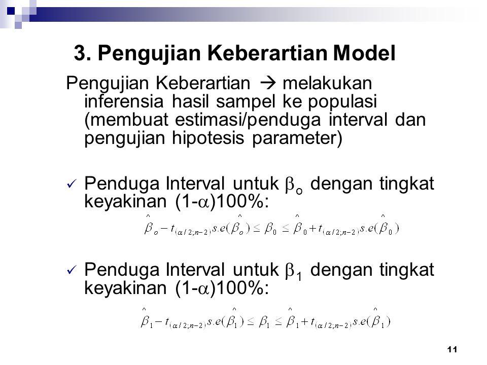 3. Pengujian Keberartian Model