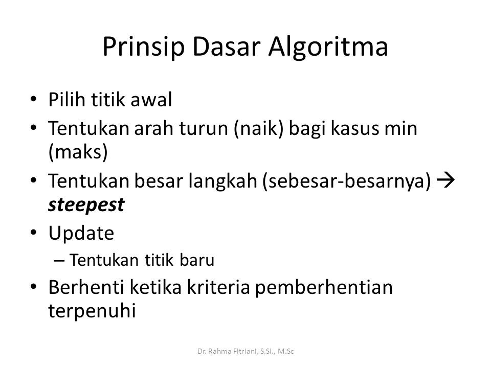 Prinsip Dasar Algoritma