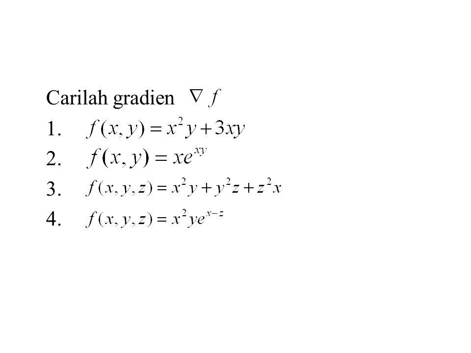 Carilah gradien 1. 2. 3. 4.