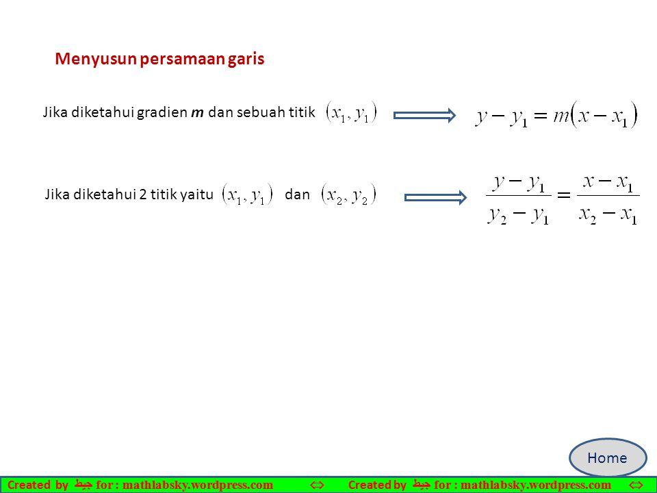 Menyusun persamaan garis