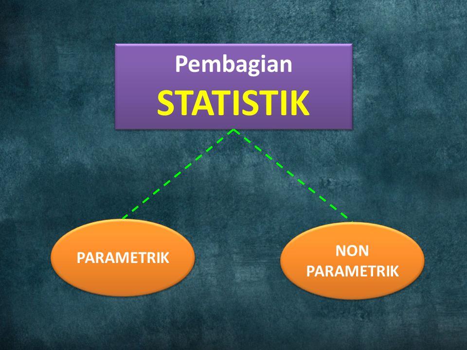 Pembagian STATISTIK PARAMETRIK NON PARAMETRIK