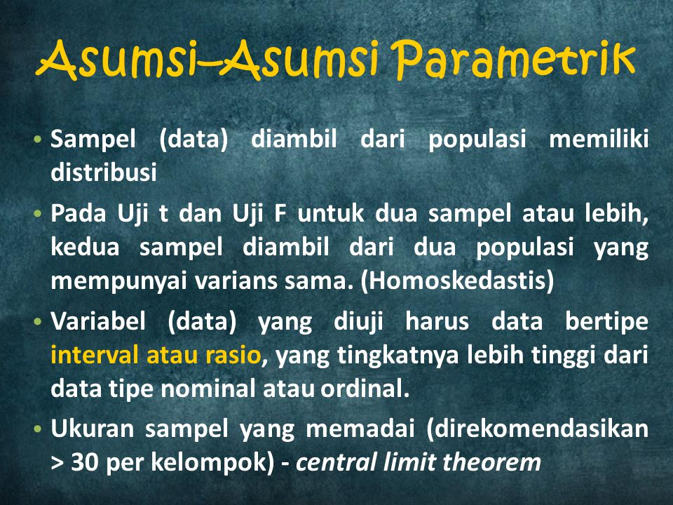 Asumsi–Asumsi Parametrik