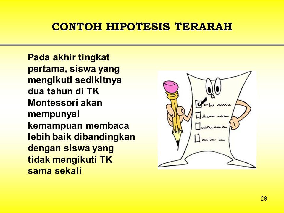 CONTOH HIPOTESIS TERARAH