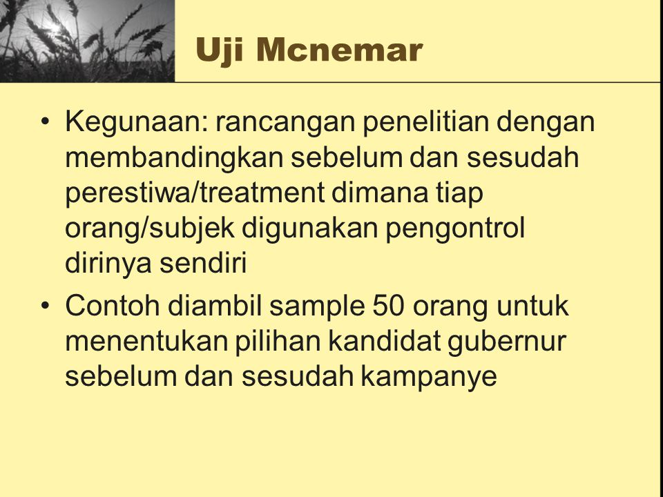 Uji Mcnemar