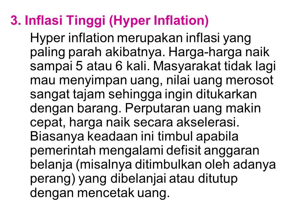 3. Inflasi Tinggi (Hyper Inflation)