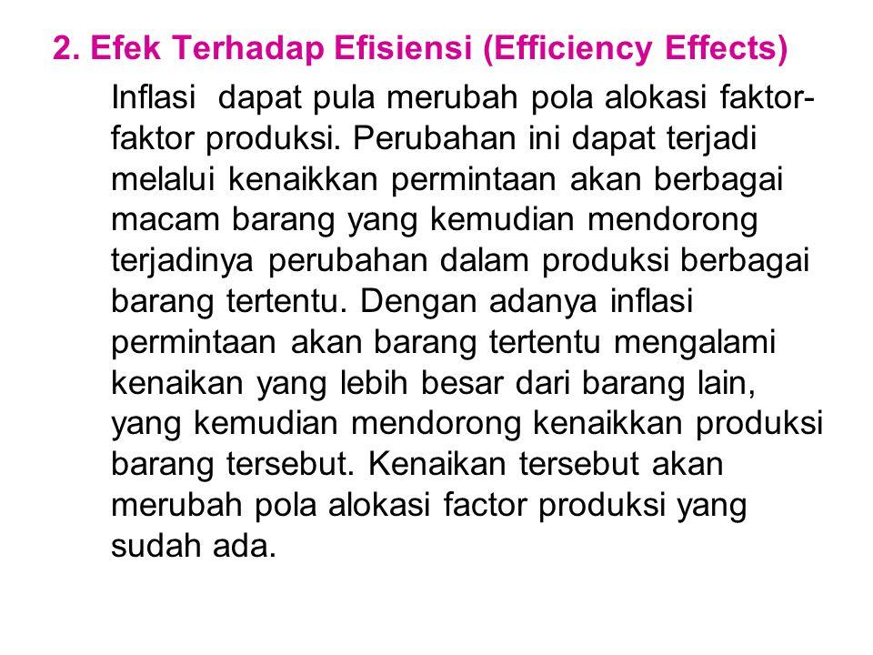 2. Efek Terhadap Efisiensi (Efficiency Effects)