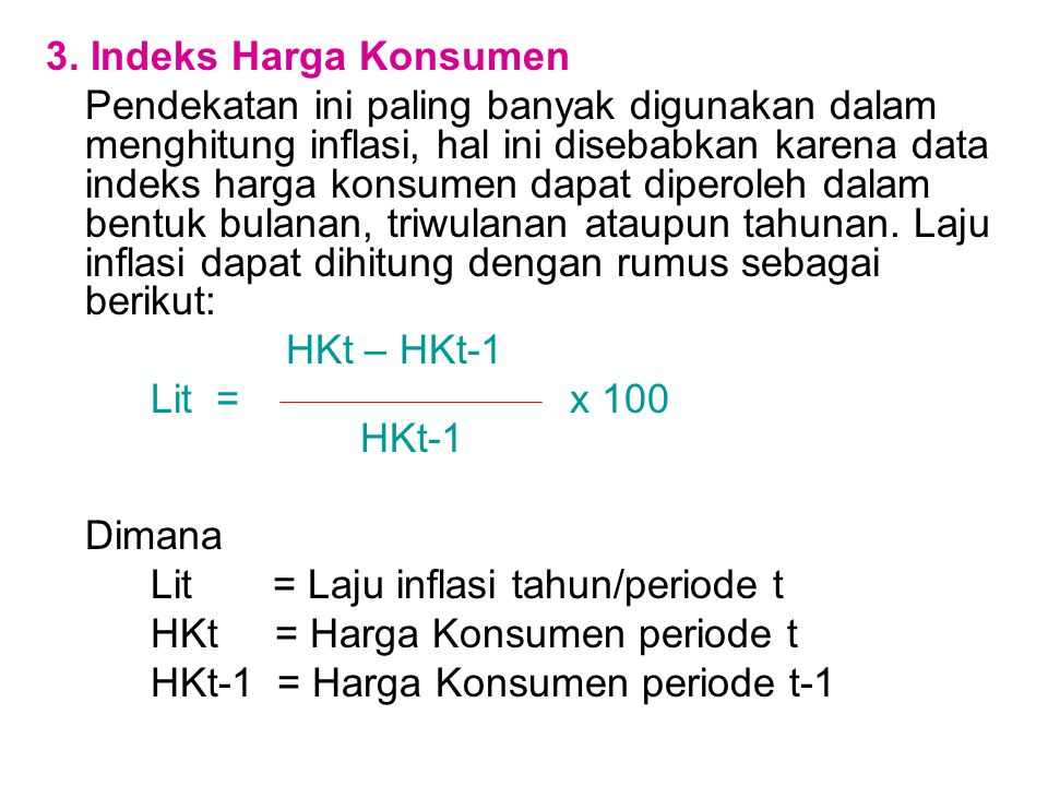 3. Indeks Harga Konsumen
