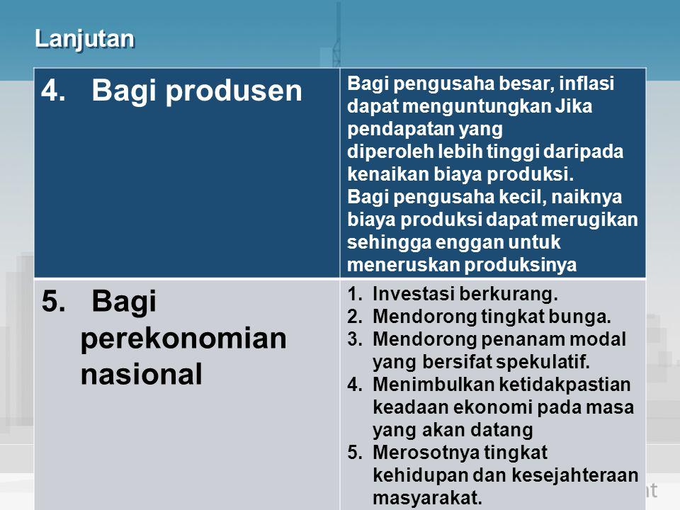 5. Bagi perekonomian nasional