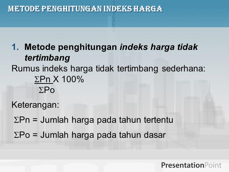 Metode penghitungan Indeks Harga