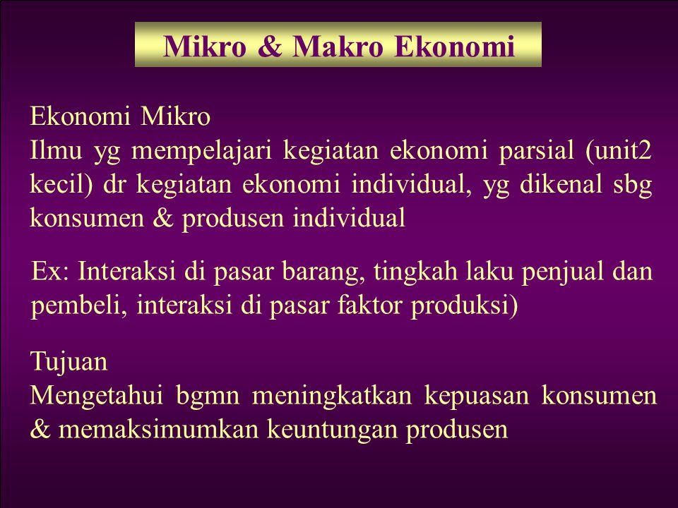Mikro & Makro Ekonomi Ekonomi Mikro