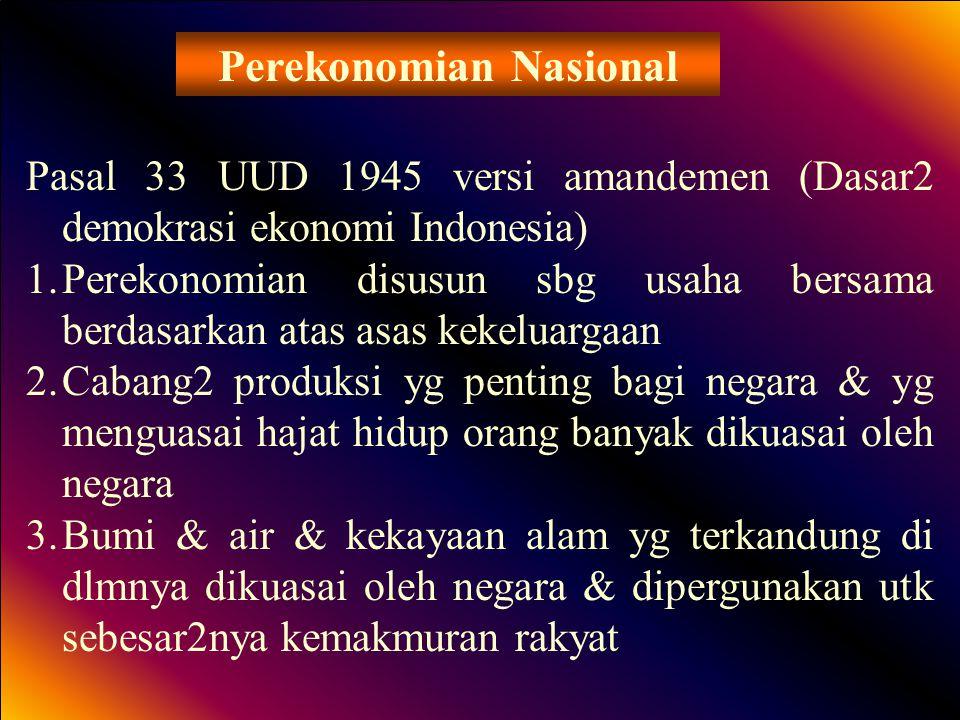 Perekonomian Nasional