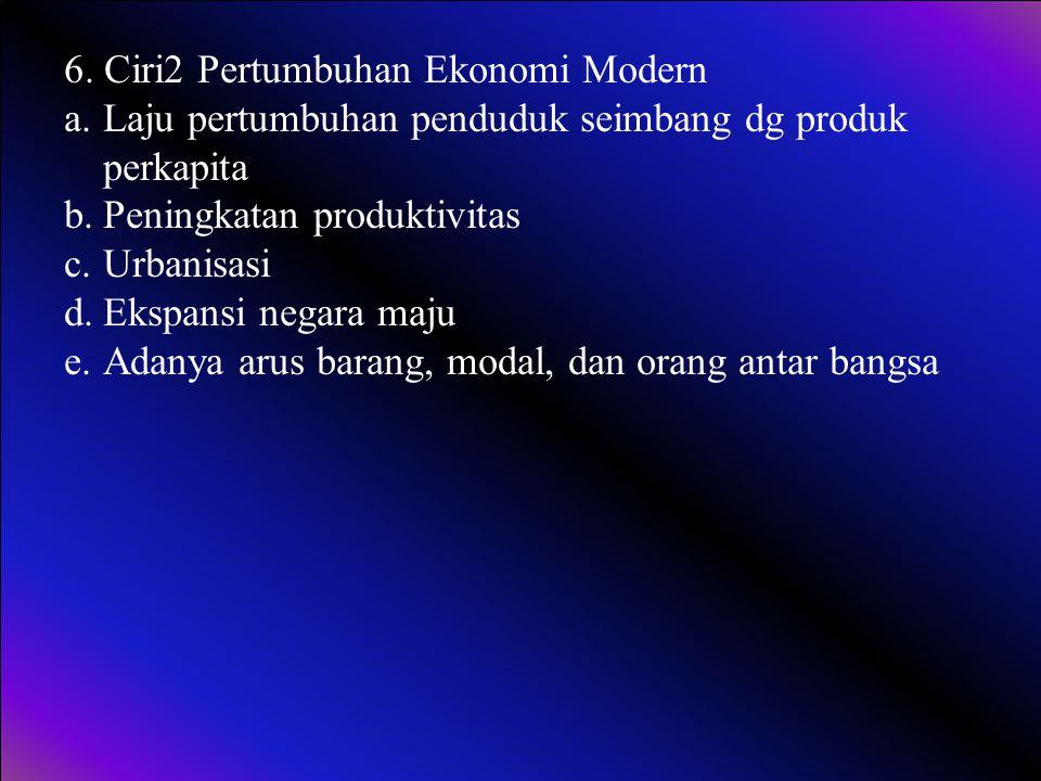 6. Ciri2 Pertumbuhan Ekonomi Modern