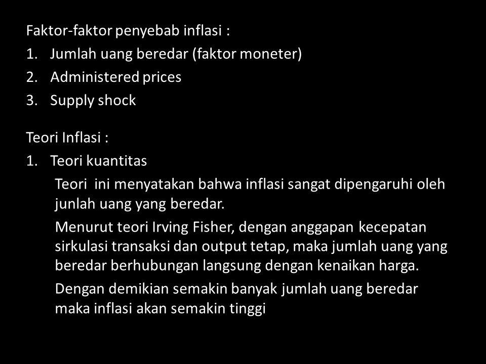 Faktor-faktor penyebab inflasi :
