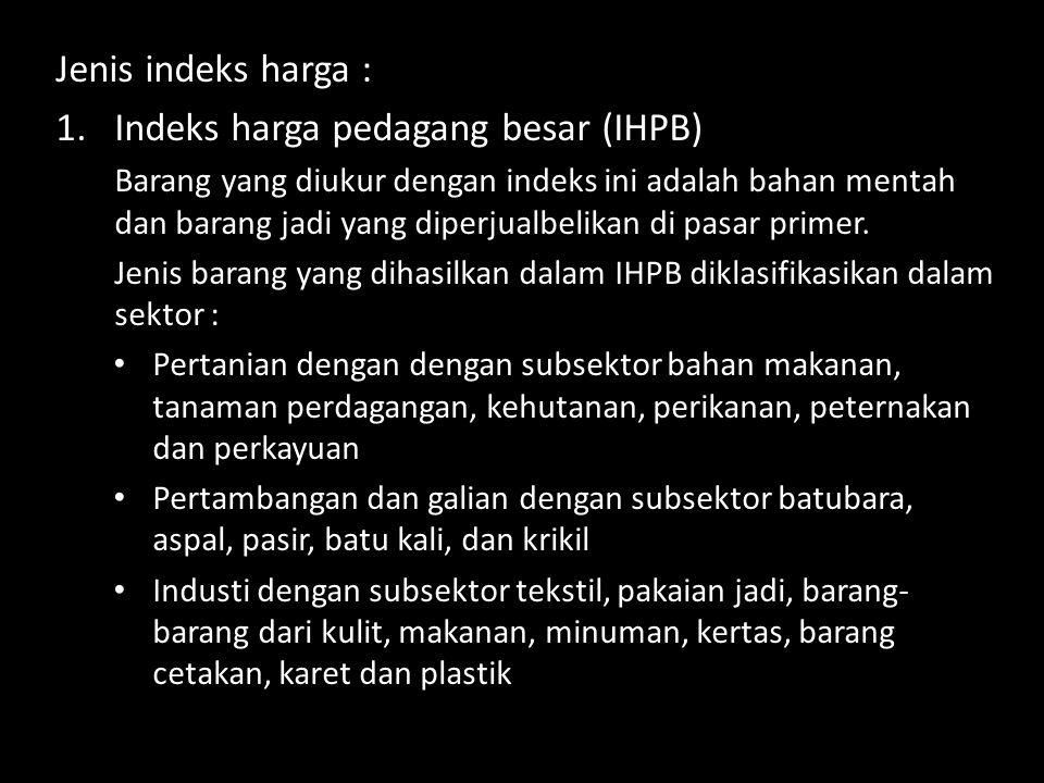 Indeks harga pedagang besar (IHPB)