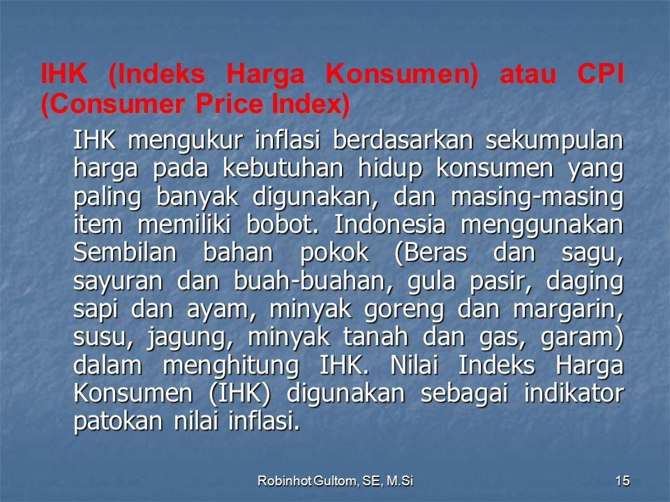 IHK (Indeks Harga Konsumen) atau CPI (Consumer Price Index)