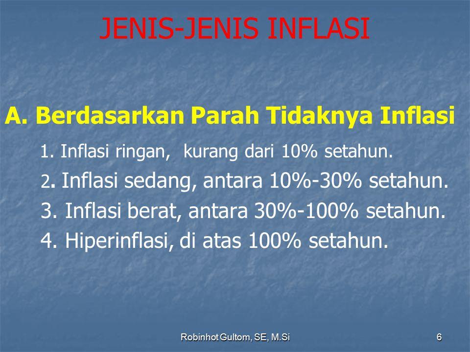 JENIS-JENIS INFLASI A. Berdasarkan Parah Tidaknya Inflasi