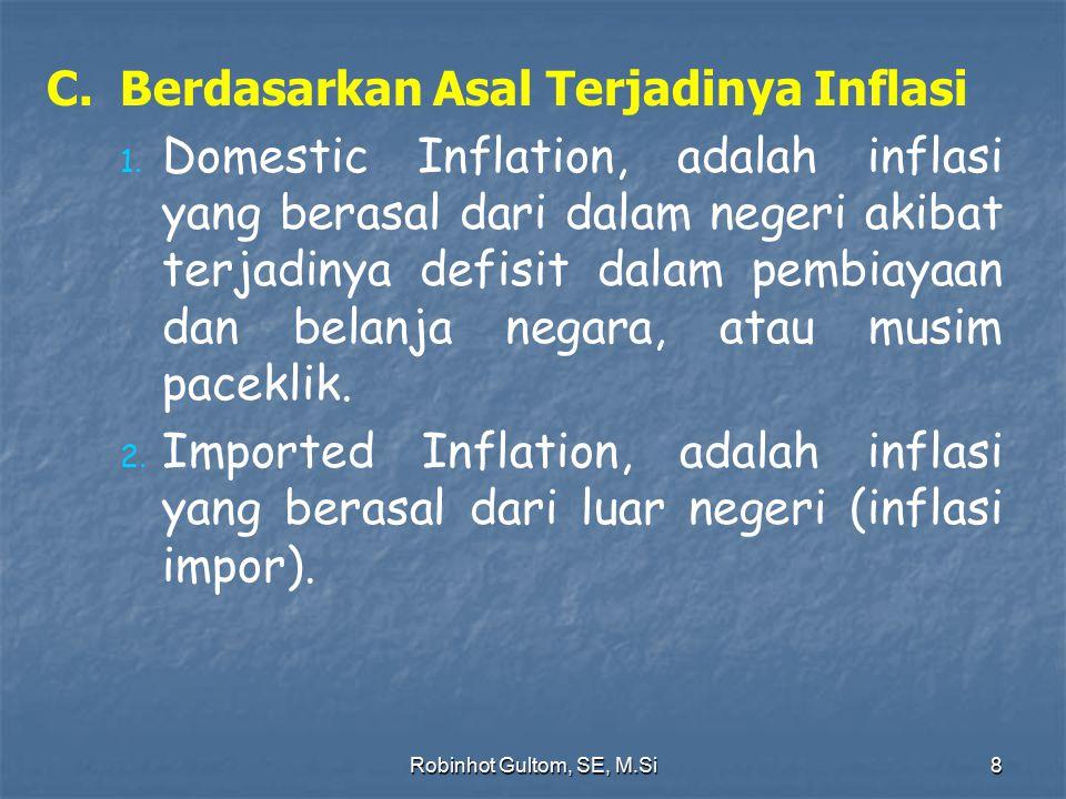 C. Berdasarkan Asal Terjadinya Inflasi
