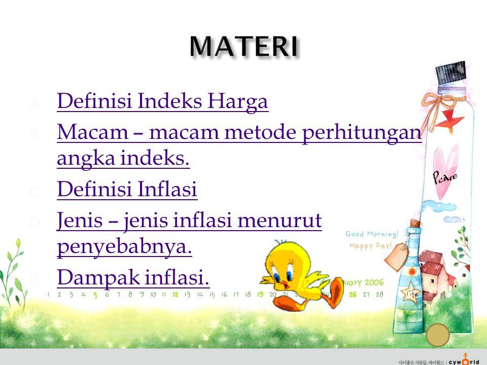 MATERI Definisi Indeks Harga