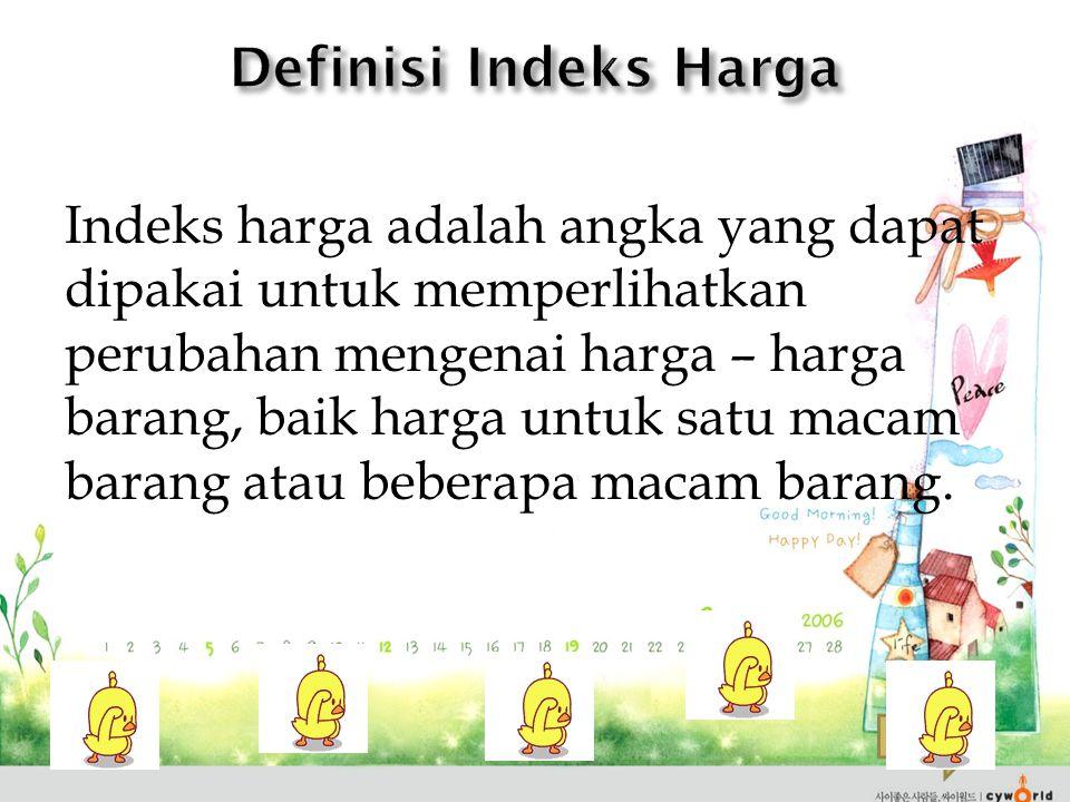 Definisi Indeks Harga