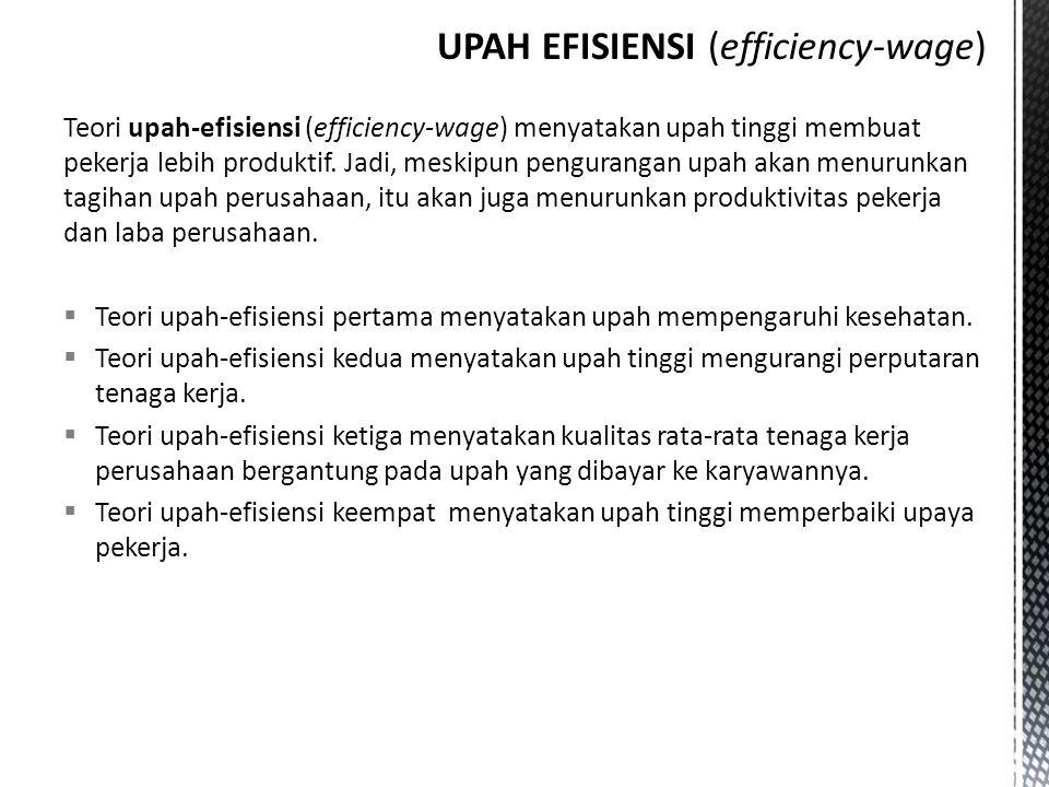 UPAH EFISIENSI (efficiency-wage)