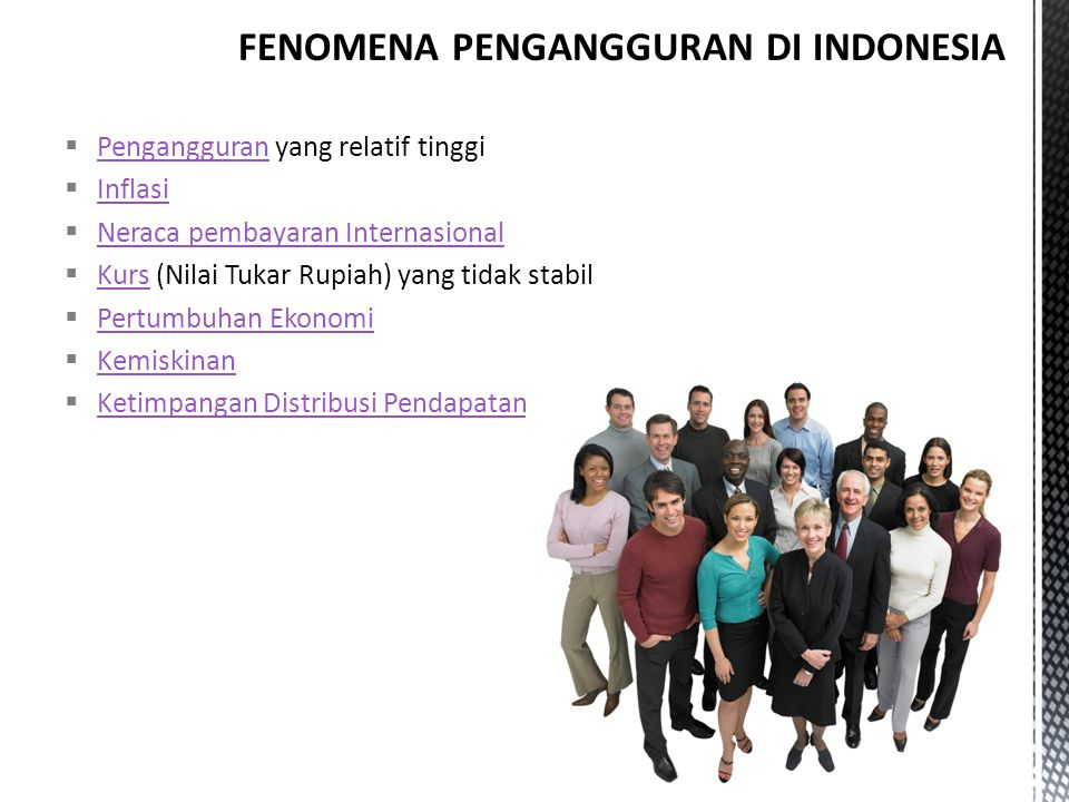 FENOMENA PENGANGGURAN DI INDONESIA