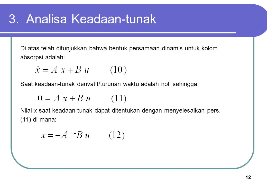 3. Analisa Keadaan-tunak