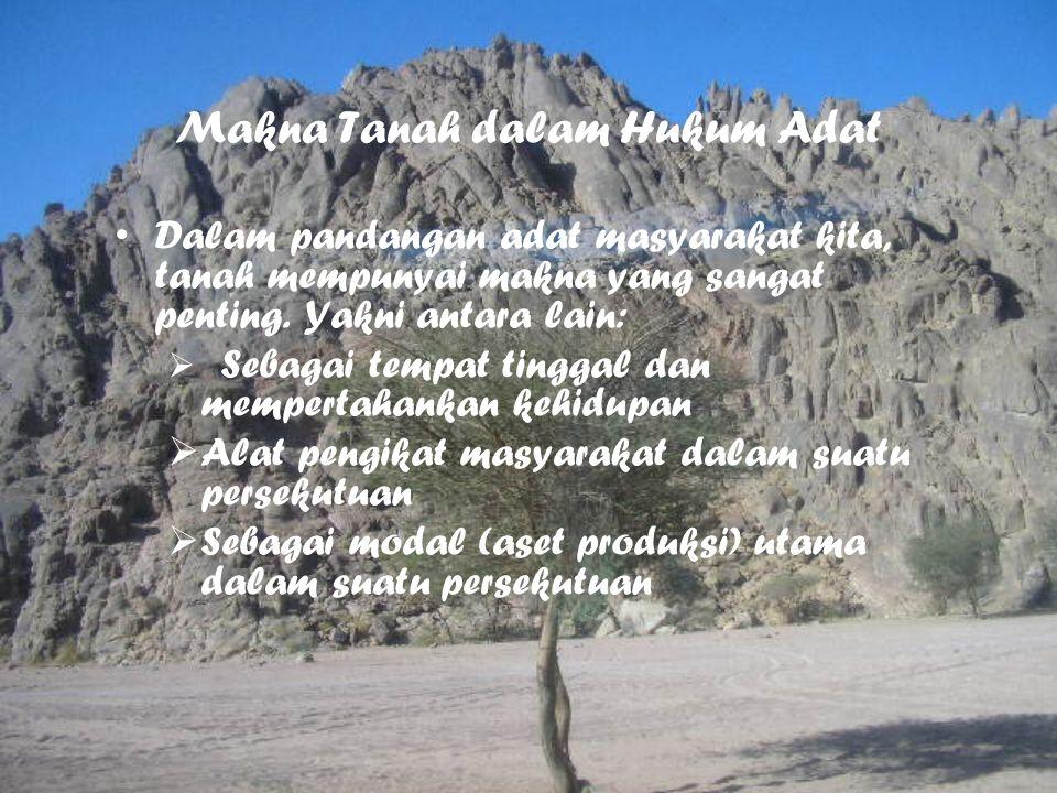 Makna Tanah dalam Hukum Adat