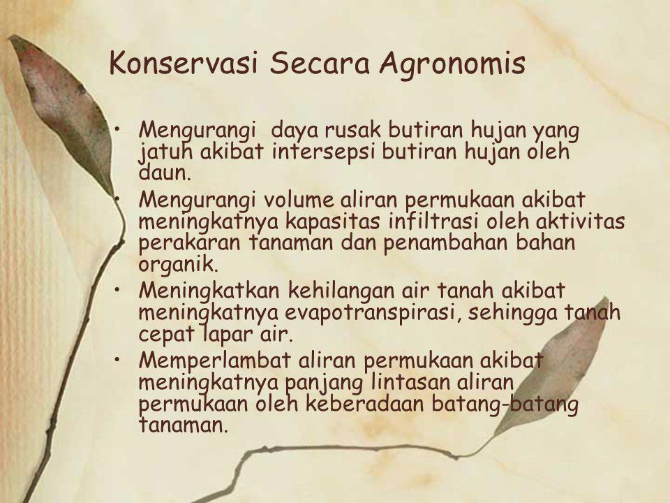 Konservasi Secara Agronomis