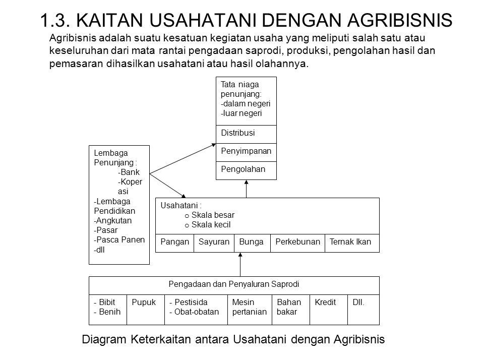 1.3. KAITAN USAHATANI DENGAN AGRIBISNIS