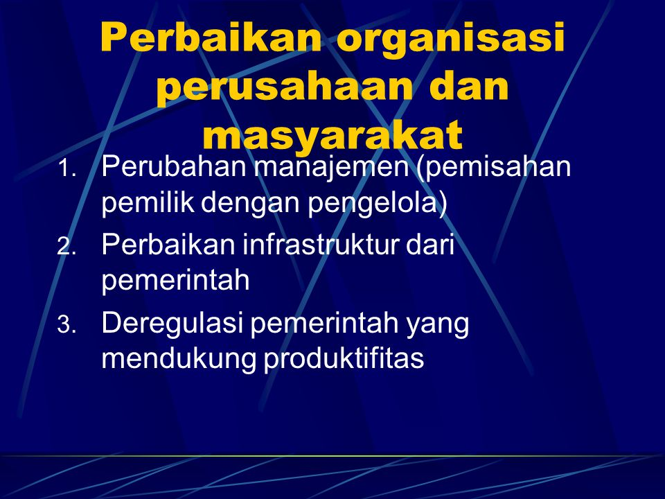 Perbaikan organisasi perusahaan dan masyarakat