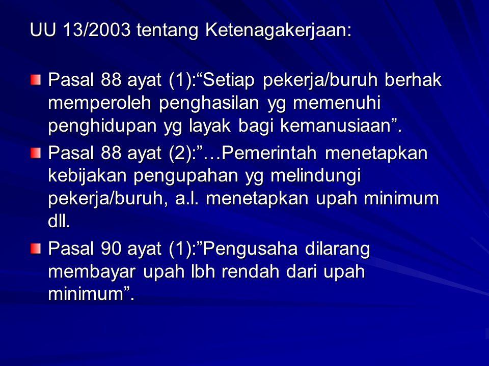 UU 13/2003 tentang Ketenagakerjaan: