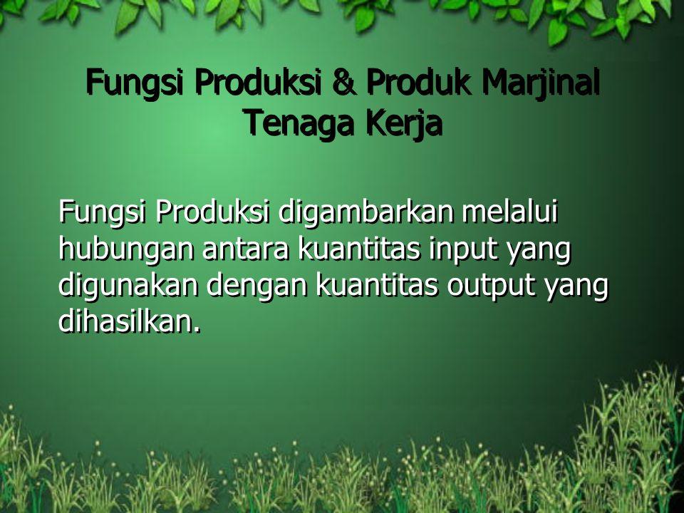 Fungsi Produksi & Produk Marjinal Tenaga Kerja