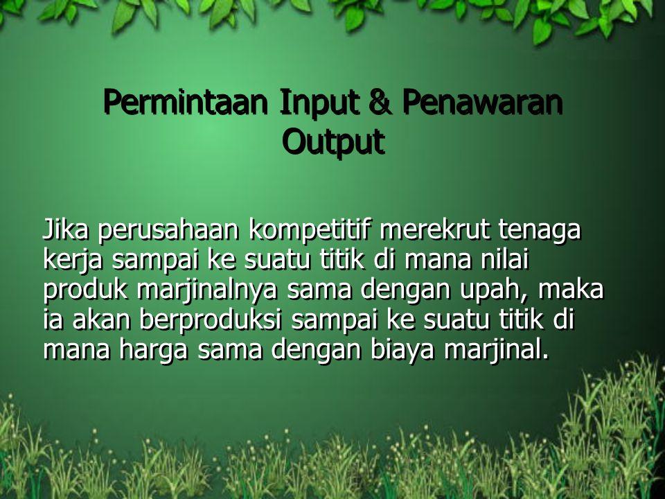 Permintaan Input & Penawaran Output